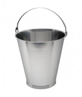 Stainless Steel Swedish Skirted Bucket 12L Graduated