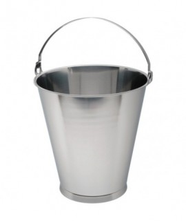 Swedish Stainless Steel Skirted Bucket 15L Graduate