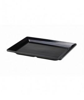 Black Melamine Platter GN 1/2 Size 32 X 26cm