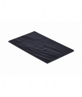 Slate Melamine Platter GN 1/4 26.5X16cm