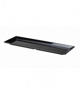 Black Melamine Platter GN 2/4 Size 53X17.5cm