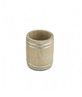 Miniature Wooden Barrel 11.5x 13.5cm