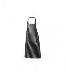 Black Butchers Stripe Bib Apron 70x100cm