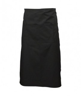 Black Waist Apron W/ Split Pocket 70cm Long