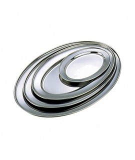 """Stainless Steel Oval Flat 14""""(11464) **"""