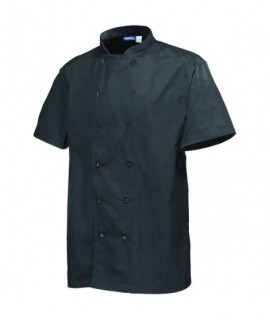 Basic Stud Jacket (Short Sleeve) Black Xl Siz