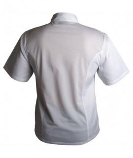 Coolback Press Stud Jacket (Short Sleeve) White M