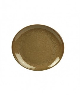Terra Stoneware Rustic Brown Oval Plate 29.5 x 26cm