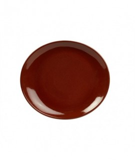 Terra Stoneware Rustic Red Oval Plate 21x19cm
