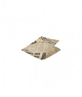 Greaseproof Paper Bags Brown Newspaper Print 17.5 x 17.5cm