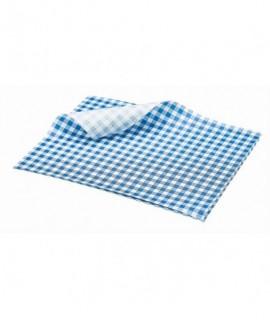 Greaseproof Paper Blue Gingham Print 25 x 20cm