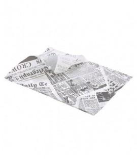 Greaseproof Paper White Newspaper Print 25 x 35cm