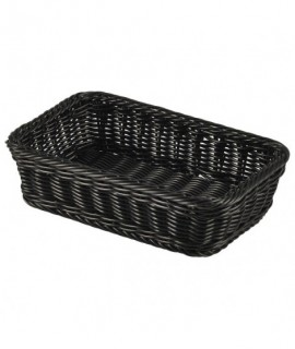 Polywicker Display Basket GN 1/4 Black