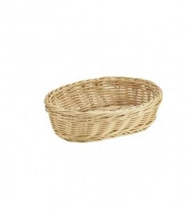 Oval Polywicker Basket 22.5 x 15.5 x 6.5cm
