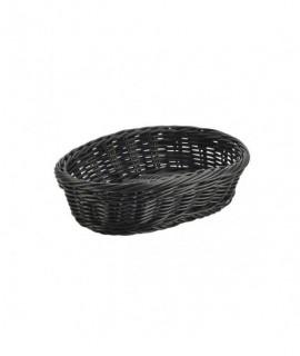 Black Oval Polywicker Basket 22.5 x 15.5 x 6.5cm