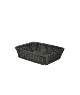 Polywicker Display Basket Black 36.5X29X9cm