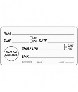 50 X 100mm Removable Shelf Life Label (500)