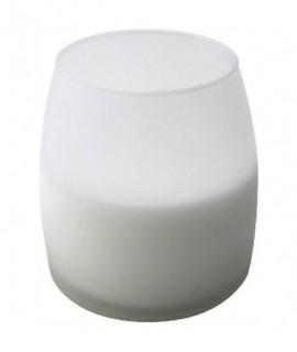 Soft Glow Glass Candle White 45H (6Pcs)