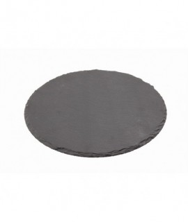 Genware Natural Edge Slate Platter 30cm Round