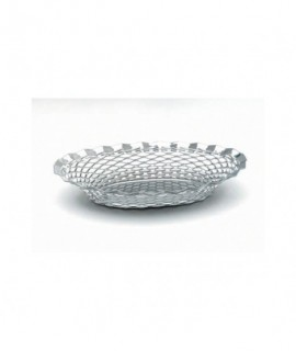 "Stainless Steel Oval Basket 9.1/2""X7"""