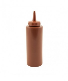 Genware Squeeze Bottle Brown 12oz/35cl
