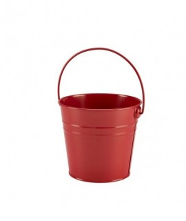 Stainless Steel Serving Bucket 16cm Red