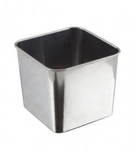 Stainless Steel Square Tub 8X8X6cm