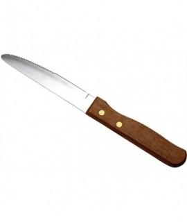 Steak Knife Large - Dark Wood Handle (Dozen)
