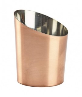 Copper Plated Angled Cone 11.6 x 9.5cm