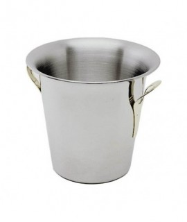 Stainless Steel Wine Bucket Tulip Design -Stainless Steel Handles