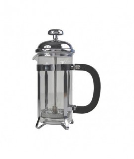 12 Cup Cafetiere Chrome Pyrex 48oz 1.5 Litre