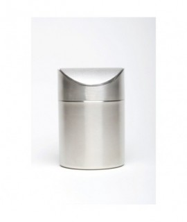 Stainless Steel Table Bin 17cm High x 11.5cm Dia