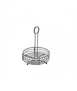 "Black Wire Table Caddy 6.5"" X 8.5"" (H)"