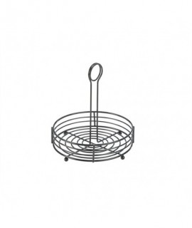 """Black Wire Table Caddy 8"""" X 8.5"""" (H)"""