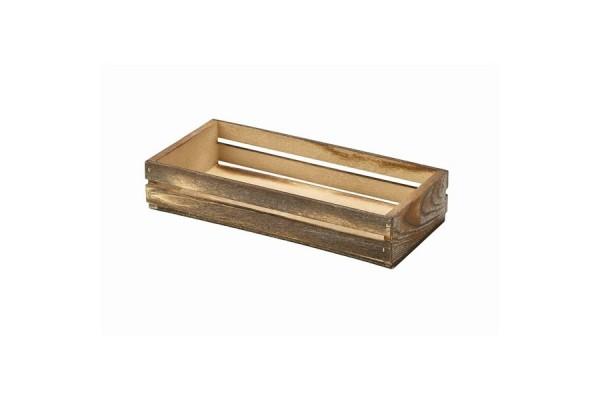 Wooden Crate Dark Rustic Finish 25 x 12 x 5cm