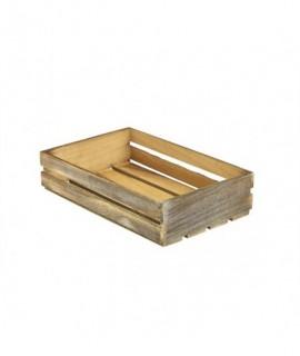 Wooden Crate Dark Rustic Finish 35 x 23 x 8cm