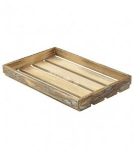 Wooden Crate Dark Rustic Finish 35X23X4cm