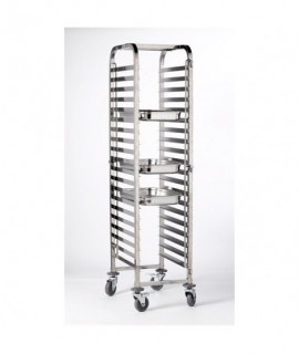 Stainless Steel Gastronorm FULL SIZE Trolley 20 Shelves