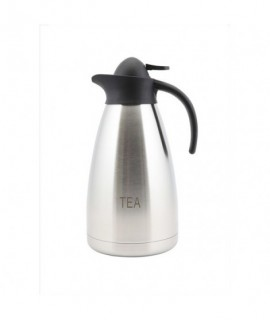 Tea Inscribed Stainless Steel Contemporary Vac. Jug 2.0