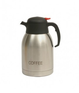 Coffee Inscribed Stainless Steel Vacuum Jug 2.0L