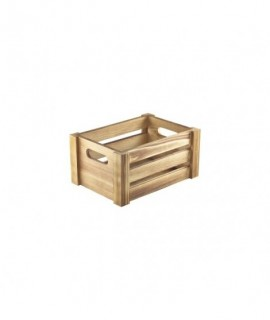 Wooden Crate Rustic Finish 22.8x16.5x11cm