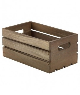 Wooden Crate Dark Rustic Finish 27 x 16 x 12cm