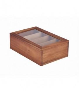 Acacia Wood Tea Box 30X20X10cm
