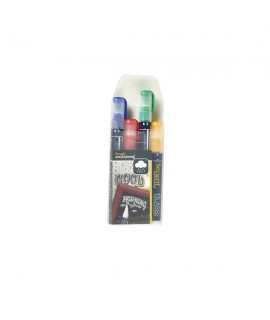 Waterproof Chalk Markers 4 Colour Pack (R, G, Y, Bl) Medium
