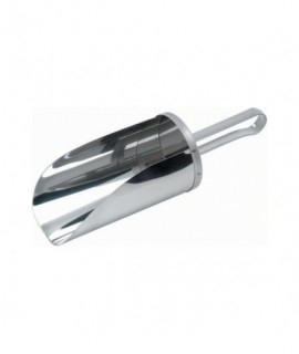 "Stainless Steel Flour Scoop 4"" Scoop Length, 0.1L Cap"