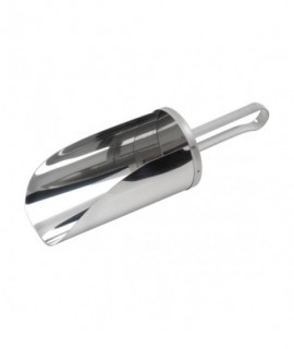 "Stainless Steel Flour Scoop 8"" Scoop Length, 1L Cap"