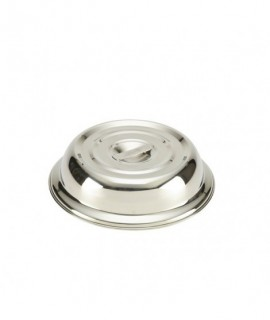 "Round Stainless Steel  Plate Cover For 8"" Plate"
