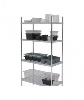 "4 Tier Rack 60""X18""X72"" (2 Boxes)"