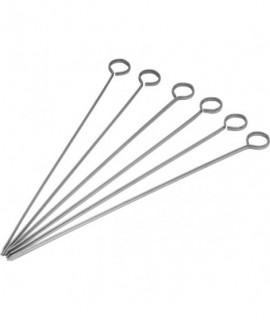 """Stainless Steel Skewers 10"""" (Packs Of 6)"""