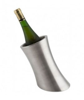 Genware Angled Stainless Steel Wine Cooler
